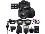 Canon EOS Rebel 700D / T5i Digital SLR with 18-55mm STM Lens + Pixi-Advanced Accessory Bundle