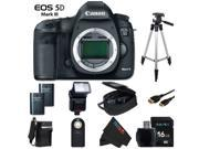 Canon EOS 5D Mark III 22.3 MP Full Frame CMOS Digital SLR Camera (Body) + Pixi-Basic Accessory Bundle