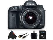 Canon EOS 7D Mark II DSLR Camera W/ Canon EF-S 18-55mm f/3.5-5.6 IS STM Lens + 16GB Pixi-Basic Accessory Bundle