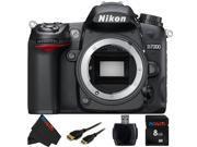 Nikon D7000 16.2 Megapixel Digital SLR Camera (Body) + 8GB Pixi-Basic Accessory Bundle