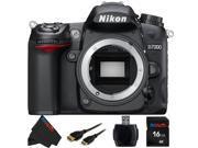 Nikon D7000 16.2 Megapixel Digital SLR Camera (Body) + 16GB Pixi-Basic Accessory Bundle