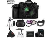 Panasonic Lumix DMC-FZ1000 4K QFHD/HD 16X Long Zoom Digital Camera + Pixi-Basic Accessory Bundle