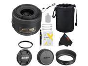 Nikon 35mm f/1.8G AF-S DX Lens + Pixi-Basic Accessory Bundle