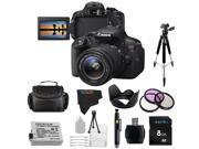 Canon EOS Rebel 700D / T5i Digital SLR with 18-55mm STM Lens + Pixi-Basic Accessory Bundle
