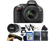 Nikon D5200 24.1 MP Digital SLR Camera with 18-55mm f/3.5-5.6 AF-S DX VR Lens Kit + 16GB Pixi-Basic Accessory Bundle (Black)