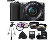 Sony a5100 ILCE5100 with 16-50mm Interchangeable Lens Camera with 3-Inch Flip Up LCD + Pixi-Basic Accessory Bundle