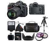 Nikon D7100 24.1 MP DSLR with 18-140mm f/3.5-5.6G ED VR AF-S DX Lens + Pixi-Basic Accessory Bundle