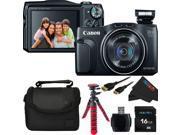 Canon PowerShot SX700 HS 1080P Full-HD Digital Camera (Black) + Pixi-Basic Accessory Bundle