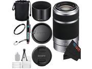 Sony E 55-210mm F4.5-6.3 OSS Lens for Sony E-Mount Cameras (Silver) + Pixi-Basic Accessory Bundle