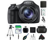 Sony Cyber-Shot DSC-HX300/BC 20.4 MP Digital Camera with 50x Optical Zoom and 3-Inch Xtra Fine LCD (Black) + Pixi-Advanced 64GB Accessory Bundle