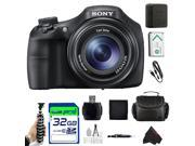 Sony Cyber-Shot DSC-HX300/BC 20.4 MP Digital Camera with 50x Optical Zoom and 3-Inch Xtra Fine LCD (Black) + Pixi-Basic Accessory Bundle
