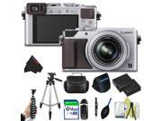 Panasonic Lumix DMC-LX100 Digital Camera (Silver) + Pixi-Advanced Accessory Bundle