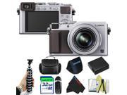 Panasonic Lumix DMC-LX100 Digital Camera (Silver) + Pixi-Basic Accessory Bundle