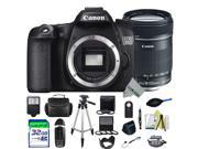 Canon EOS 70D DSLR Camera + Canon EF-S 18-135mm f/3.5-5.6 IS STM Lens + Expo-Advanced Accessories Kit