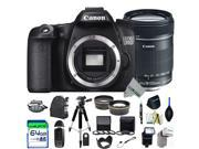 Canon EOS 70D DSLR Camera + Canon EF-S 18-135mm f/3.5-5.6 IS STM Lens + Expo-Pro Accessories Kit