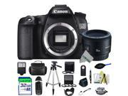 Canon EOS 70D DSLR Camera (Body) + Canon EF 50mm f/1.8 II Lens + Expo-Advanced Accessories Kit