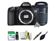 Canon EOS 70D DSLR Camera (Body) + Canon EF-S 55-250mm f/4-5.6 IS STM Lens + Expo-Starter Accessories Kit