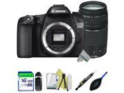 Canon EOS 70D DSLR Camera (Body) + Canon EF 75-300mm f/4-5.6 III Lens + Expo-Starter Accessories Kit