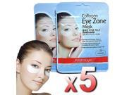 Purederm - 5x Collagen Hydro Eye Zone Mask White Wrinkle Care Nourishing Salon