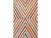 Jaipur LST09 Hand-Tufted Geometric Pattern Wool Red/Orange Area Rug ( 8x11 )
