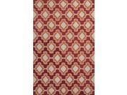 Jaipur CAT23 Moroccan  Polyester Red/Orange Indoor-Outdoor Area Rug ( 2x3 )