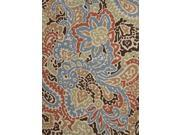 Jaipur BA04 Indoor-Outdoor Abstract   Blue/Red Area Rug ( 3.6x5.6 )
