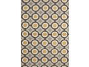 Jaipur BR31 Hand-Tufted Geometric  Polyester Gray/Yellow Area Rug ( 7.6x9.6 )