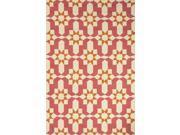 Jaipur BA35 Moroccan Pattern Polypropylene Pink/Ivory Indoor-Outdoor Area Rug ( 7.6x9.6 )