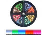 HitLights RGB Color Changing SMD5050 High Density LED Light Strip Kit - 300 LEDs, 16.4 Ft Roll, Cut to Length, Includes Power Supply and In-Line Controller