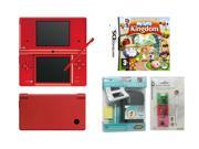 NINTENDO DSI Combo Pack (Red) + Black Casing + Game Case w/ Stylus + My Sims Kingdom Game- New