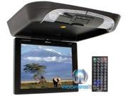 """XO VISION GX-1732B 17"""" Overhead LCD Monitor with DVD Player and IR Transmitter (Black) - New"""