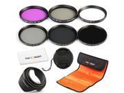 K&F Concept 77mm 6pcs FLD CPL+UV ND2 ND4 ND8 Lens Accessory Filter Kit UV Protector Circular Polarizing Filter for Canon 6D 5D Mark II 5D Mark III for Nikon D610 D700 D800 DSLR Camera