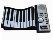61 Keys Foldable Portable Electric Digital PIANO USB Silicon Flexible Roll Up Piano MIDI Keyboard Musical Instrument Portable Electronic Organ Soft Roll Up Piano