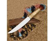 Kongo Plains Knife - the overall shape and size of this knife shows its functions. It's just right for work, hunting and a fighting knife with the stainless steel blades slight up-sweep.