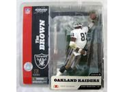 NFL McFarlane Series 8 Tim Brown Action Figure White Jersey Variant Oakland Raid
