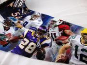 NFL Player 16x40 Pennant NFC (Michael Vick, Tony Romo, Adrian Peterson, Aaron Ro