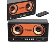 Frisby Multimedia Portable Dual Speakers & MP3 player USB SD FM Radio w/ Remote