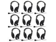 10 × Headset Microphone/Headphone with 3.5mm for PC Notebook/Laptop Computer