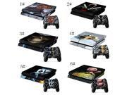 Green Light Biohazard Sticker for Playstation 4 Console Skin & Remote Controllers Skin