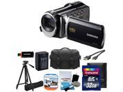 Samsung F90 Black Camcorder HD Video + Case + Extra Battery +32GB TOP VALUE KIT
