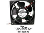 120mm 38mm New Case Fan 12V 120CFM Ball IP55 Waterproof Muffin 4 Screws 299a*