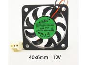 40mm 6mm New Case Fan 12V DC 5CFM 2 Wire Fluid Brg PC CPU Computer Cooling 058A*
