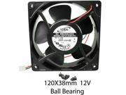 120mm 38mm New Case Fan 12V DC 120CFM PC CPU Computer Cooling 2Pin Ball Bg 326A*