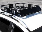 HD Black Steel Roof Basket Carrier Rack Car Top Luggage Cargo Storage Traveling