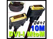 10.0M DVI-D Dual Link (24+1 Pin) Male to Male Digital Video Cable