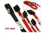 HQmade 2.3ft mini-SAS  36-Pin SFF-8086 Mini SAS to 4x SATA Data Cable