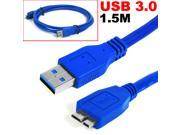 HQmade USB 3.0 Micro-B Cable Extension Cable Lead For External Hard Drive use, Male to Male M/M - 1.5M (5ft)
