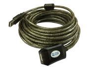 10M 32.8Ft Hi-Speed USB 2.0 Active Repeater Extension Cable w Ferrite core Male to Female M/F