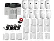 Generic FDL-445 Lcd Display Gsm Wireless Intelligent Security Home Alarm System