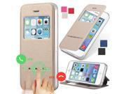 4S Smart Answer Calls Window Leather Case For Apple iPhone 4 4S 4G Auto Unlock Matte Flip Phone Bag Cover Silicon With Stand